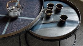 Set de tables basses rondes pour plateaux - Ethnicraft