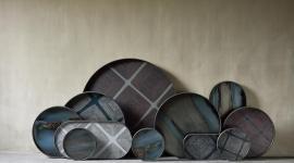 Collection de plateaux Linear Square et Graphite Organic - Ethnicraft