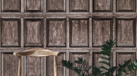 Old wood panels - Les Dominotiers