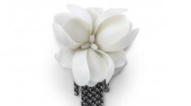 Lladró porcelain brooch