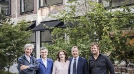 ©AnneEmmanuelleThionGroupe Groupe Artistes :  De gauche à droite : Marc Vellay, Fabrice Hyber, Eva Jospin, Laurent Dumas, Stefan Rinck