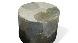 MOTHER OF PEARL STOOL_PLASTICIET_Collectible x 107Rivoli