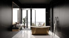 Silestone Eternal noir salle de bain