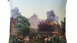 Enveloppe de coussin carrée Jardin Suspendu - Madura
