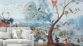 Les Dominotiers - Décor panoramique Tropical Birds