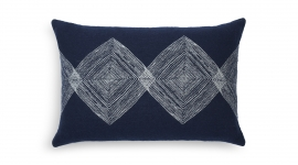 Coussin Navy linear diamonds - Ethnicraft