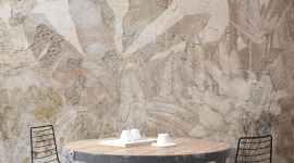 Tropical patina wall - Les Dominotiers