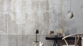 White patina wall - Les Dominotiers