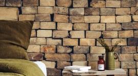 Wood blocks wall - Les Dominotiers