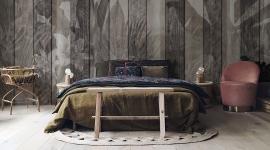 Tropical dark wood wall - Les Dominotiers