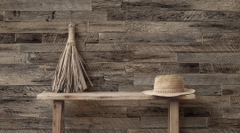 Rough wood wall - Les Dominotiers
