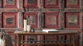 Red vintage wood - Les Dominotiers
