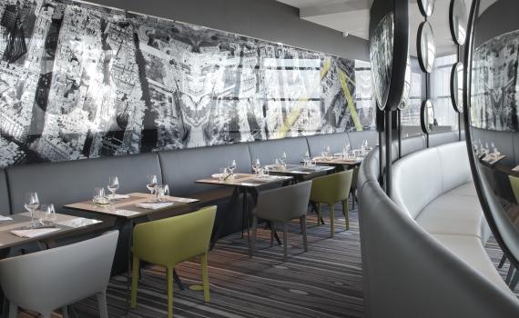 Le restaurant le miroir meli paris la d fense images for Miroir paris restaurant