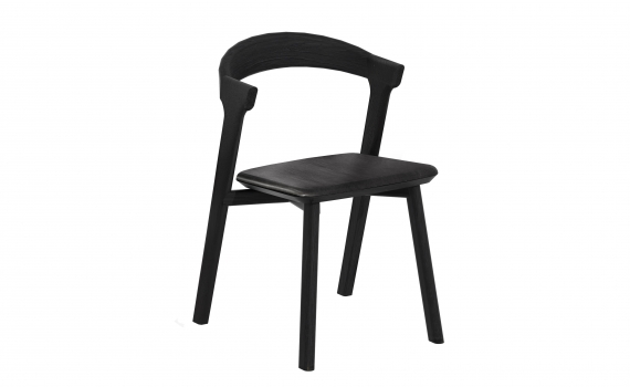 Chaise BOK - chêne noir et cuir - Ethnicraft