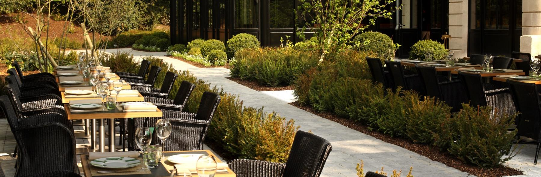 Domaine les cray res les restaurants images 14 septembre for Brasserie le jardin