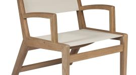 Tectona - collection southampton - fauteuil écru