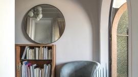 Aqua velvet swivel sofa