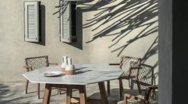 Table de repas Rafael, en marbre statuaire - Ethimo
