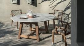 Table de repas Rafael en marbre statuaire - Ethimo